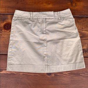Loft tan mini skirt